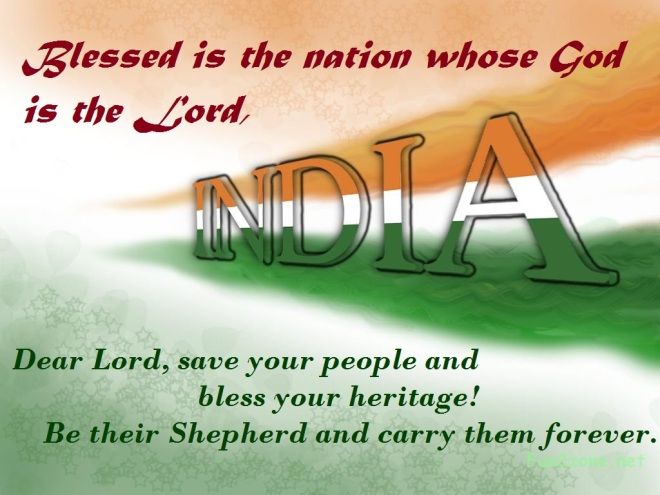 Blessed is the Nation-India!!