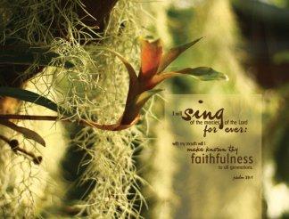 for His mercies