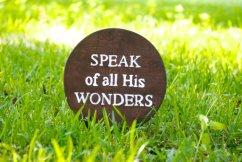 speak His wonders