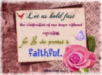 Hebrews 10 23
