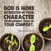 God cares about your character.