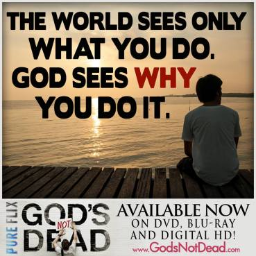 God sees why we do it
