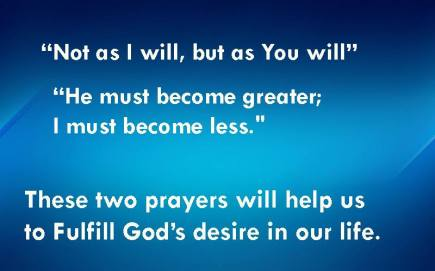 God's desires