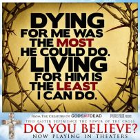 He died for me and i live for Him