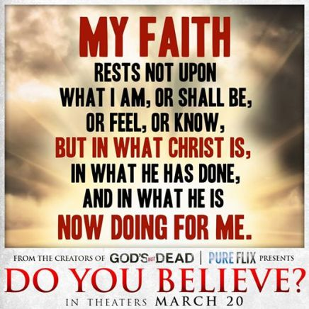 My faith rests on