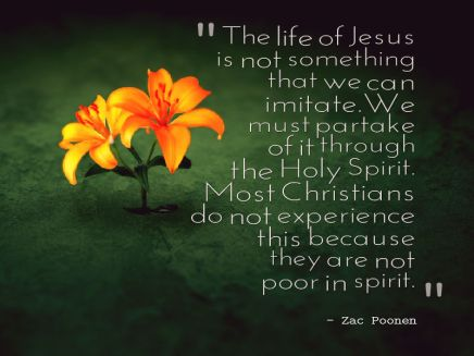 Life of Jesus and Poor in Spirit