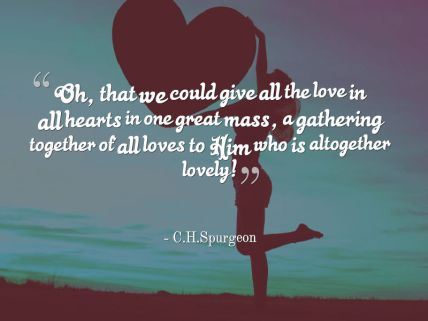 Give all the Love to Jesus