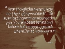 No boat can sink when Christ is on board