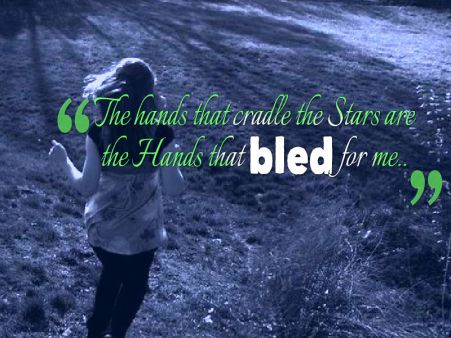 the hands that bled for me