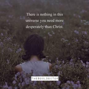 We need Jesus alone